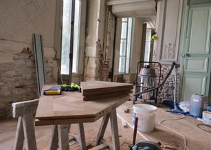 Restauration parquet Versailles et boiseries murales 2ème tranche
