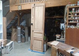 Porte 2 vantaux de style en chêne massif
